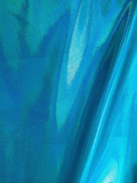 Twinkle Turquoise Starlet Holo Spandex, blue fabric, dance fabric, gymanstics fabric, holographic fabric