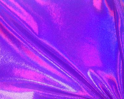 Grapeade Starlet Hologram Tricot, liquid shine spandex fabric, liquid shine tricot fabric, stretchy liquid shine, strechy holographic fabric