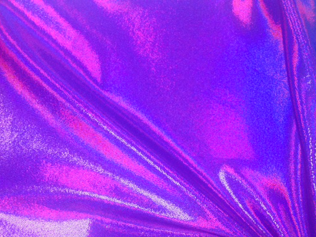 Grapeade Starlet Hologram Tricot, liquid shine spandex fabric, liquid shine tricot fabric, stretchy liquid shine, strechy holographic fabric