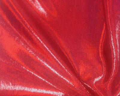 Heatlamp Red Starlet Hologram Tricot, liquid shine spandex fabric, liquid shine tricot fabric, stretchy liquid shine, strechy holographic fabric