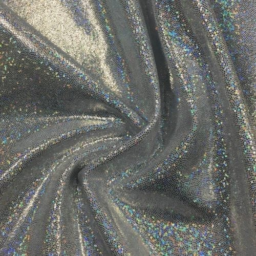 White Silver Sparkly Jewels Spandex, sparkly hologram fabric, hologram fabric, silver fabric, gymnastics fabric, dance fabric