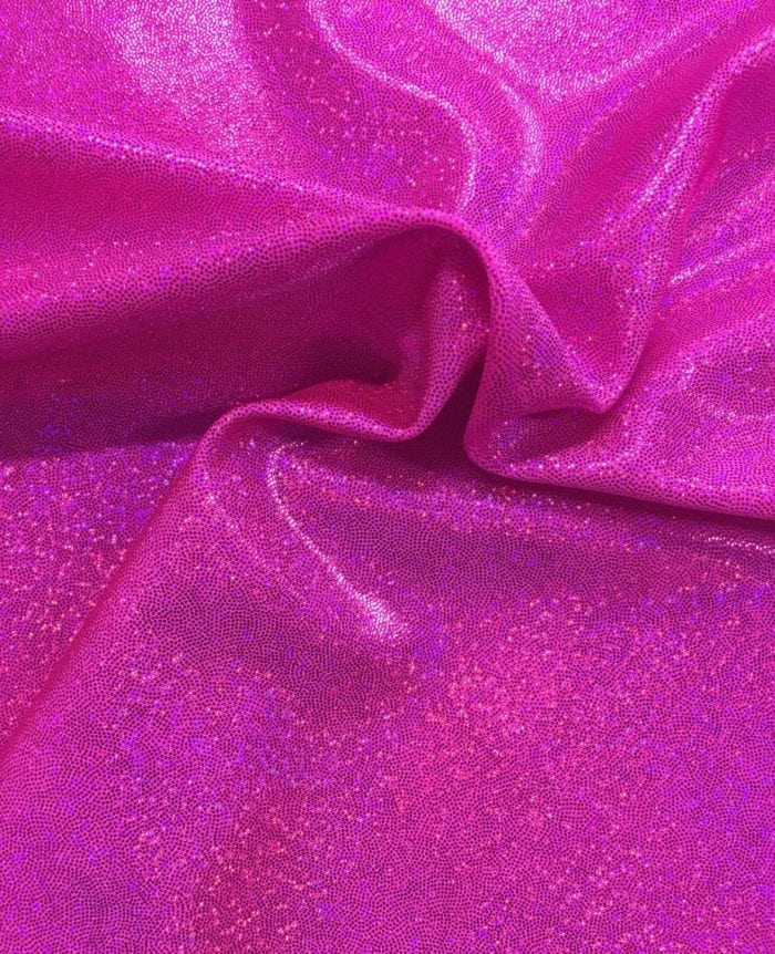 Hot Pink Sparkly Jewels Spandex, sparkly hologram fabric, sparkly hologram spandex, holographic spandex fabric, hologram fabric, pink fabric, gymnastics fabric