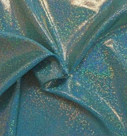 Marine Sparkly Jewels Spandex, sparkly hologram fabric, sparkly hologram spandex, holographic spandex fabric, hologram fabric, blue fabric, gymnastics fabric, dance fabric
