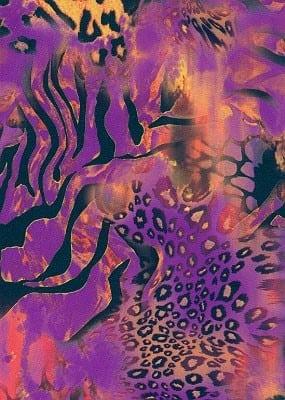 Safari Orchid Print, animal print fabric, purple fabric