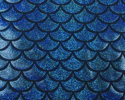 Blue Mermaid Scale Holographic Spandex, sparkly mermaid scale fabric, mermaid fabric sparkly, stretchy mermaid scale fabric