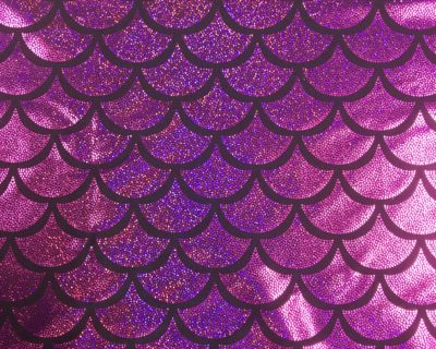 Pink Mermaid Scale Holographic Spandex, sparkly mermaid scale fabric, mermaid fabric sparkly, stretchy mermaid scale fabric