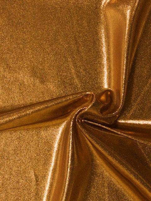 Tiger's Eye Jewels Spandex, rust fabric, copper fabric, shiny copper fabric, dance fabric, gymnastics fabric