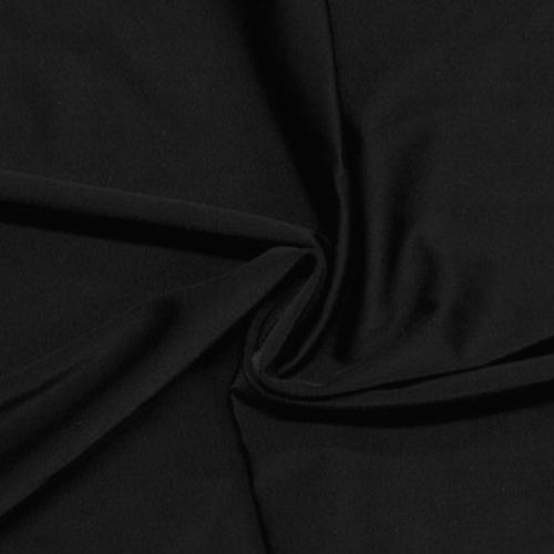 Black Zen ATY Nylon Spandex, Black Zen Spandex, activewear fabric, yoga fabric, black fabric