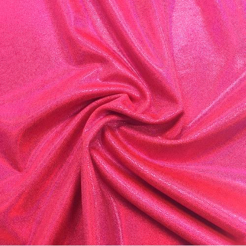 Diva Pink Starlet Holo Spandex, pink fabric, dance fabric, gymanstics fabric, holographic fabric