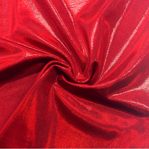 Heat Lamp Starlet Holo Spandex, red fabric, sparkly red fabric, dance fabric, gymnastics fabric,