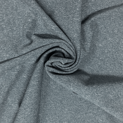 Denim Blue Heathered Dharma Spandex, blue fabric, heathered fabric, yoga fabric, activewear fabric