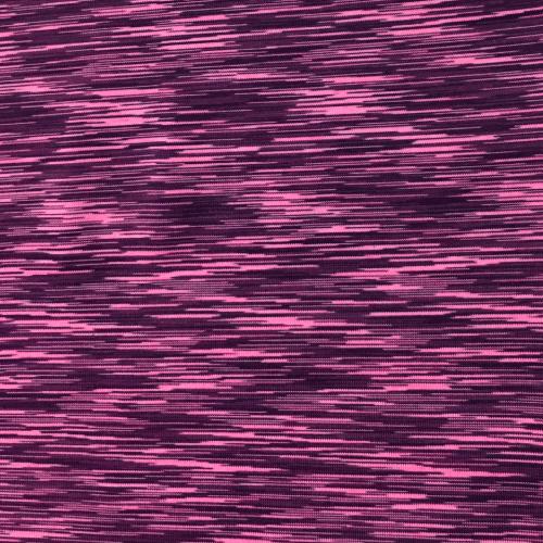 Pink Purple Strata Space Dye Spandex, pink fabric, purple fabric, activewear fabric, yoga fabric
