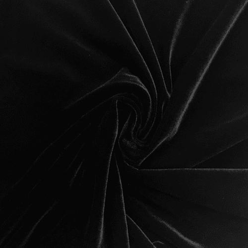 Black Radiance Velvet Spandex, black velvet fabric, velvet fabric, black fabric