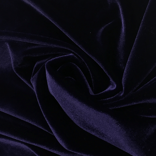 Deep Purple Radiance Velvet Spandex, purple velvet, velvet fabric, purple fabric, purple velvet fabric