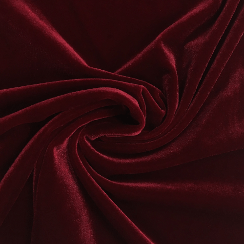 Red Radiance Velvet Spandex, red fabric, red velvet fabric, velvet fabric