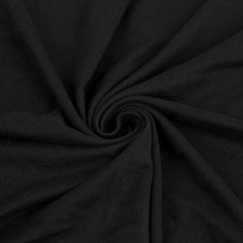 Black Double Brushed Spandex, black fabric, soft black fabric, brushed fabric,