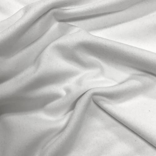 White Double Brushed Spandex, white fabric, soft fabric, brushed fabric