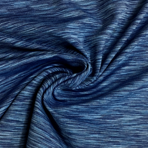 Blue Royal Strata Space Dye Spandex, blue fabric, yoga fabric, activewear fabric