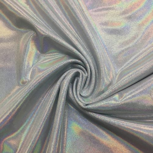Flashbulb Starlet Holo Spandex, silver fabric, white fabric, dance fabric, gymanstics fabric, holographic fabric