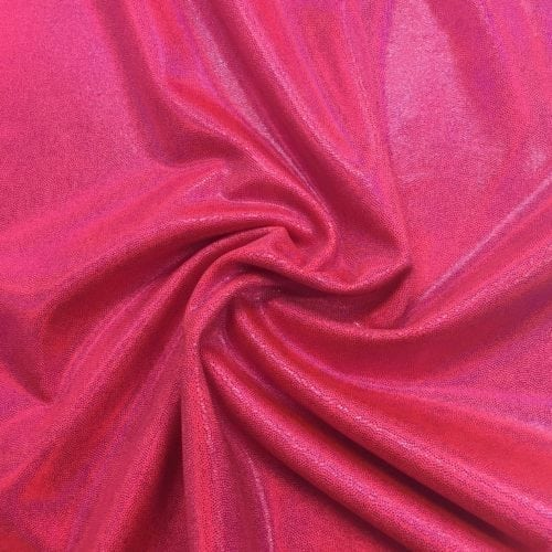 Diva Pink Starlet Holo Spandex, pink fabric, dance fabric, gymanstics fabric, holographic fabric