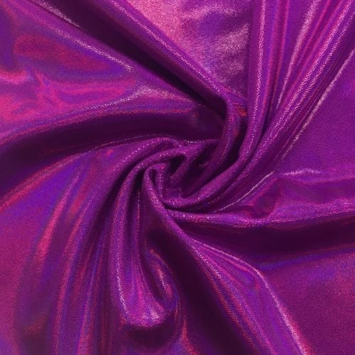Fiery Orchid Starlet Holo Spandex, pink fabric, dance fabric, gymanstics fabric, holographic fabric