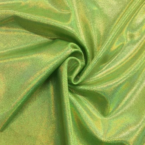 Limelight Starlet Holo Spandex, green fabric, sparkly green fabric, dance fabric, gymnastics fabric,