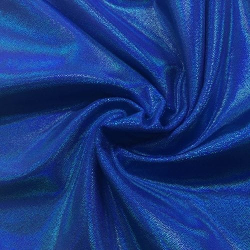 Blueberry Bulb Starlet Holo Spandex, blue fabric, dance fabric, gymanstics fabric, holographic fabric