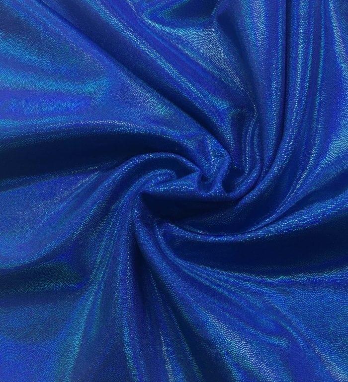 Blueberry Bulb Starlet Holo Spandex, blue fabric, dance fabric, gymanstics fabric, holographic fabric