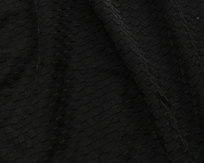 Black Athletic Textured Squares, textured spandex fabric, textured stretch fabric, textured squares stretch fabric