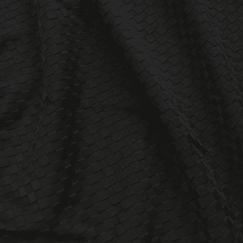 Black Textured Squares Spandex, textured fabric, black fabric, black textured fabric, textured spandex,