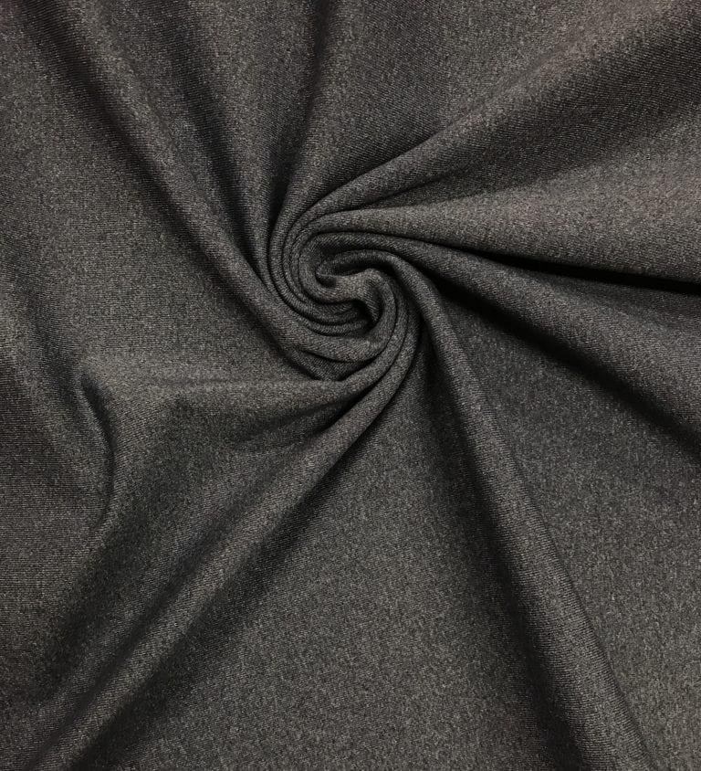 Charcoal Moisture Wicking Supplex, Invista Supplex fabirc, moisture wicking activewear fabric, wicking supplex, moisture wicking supplex, supplex spandex