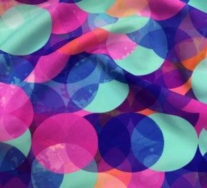 Exclusive Pastel Overlap Digital Direct Print, exclusive digital print, exclusive prints