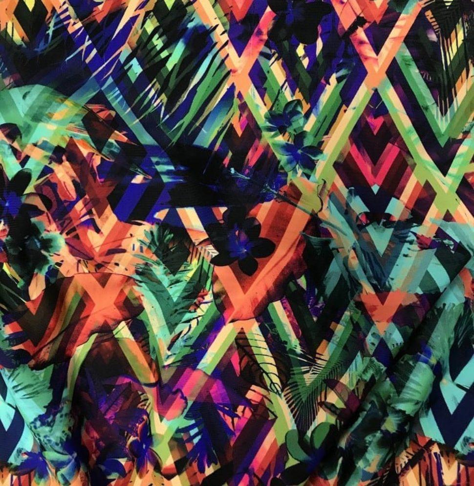 Exclusive Polynesian Passion Digital Direct Print, exclusive digital print, exclusive prints, nylon fabric, nylon
