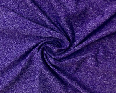 Purple Cationic Heathered Stretch Fabric, heathered spandex fabric, heathered stretch fabric, heathered yoga fabric, heathered activewear fabric, heathered yoga spandex, cationic spandex fabric, heathered cationic spandex