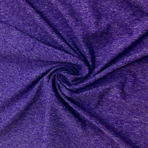 Purple Heathered Dharma Spandex, heatherded fabric, purple fabric, purple heathered fabric