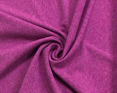 Magenta Cationic Heathered Stretch Fabric, heathered spandex fabric, heathered stretch fabric, heathered yoga fabric, heathered activewear fabric, heathered yoga spandex, cationic spandex fabric, heathered cationic spandex