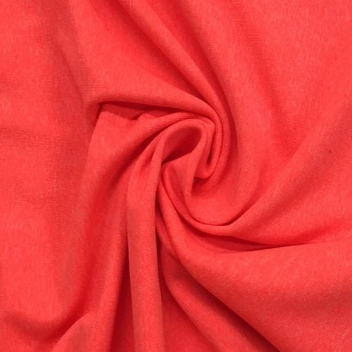 Coral Heathered Dharma Spandex , heathered fabric, yoga fabric, activewear fabric, heathered spandex, orange fabric, discount fabric