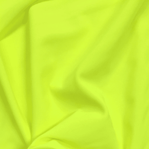 Neon Yellow Matte Tricot Spandex, yellow fabric, neon yellow fabric, swim fabric, neon fabric