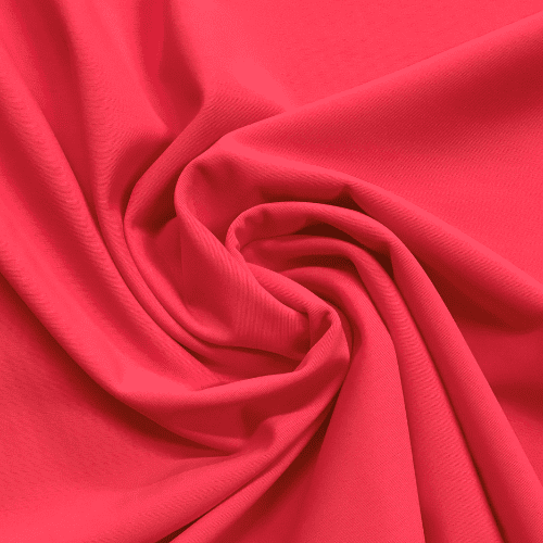 Hot Coral Matte Tricot Spandex, coral fabric, pink fabric, swim fabric, matte fabric