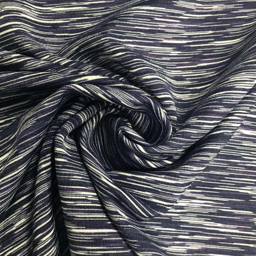 Navy Purple Strata Space Dye Spandex, marbled fabric, yoga fabric, activewear fabric, purple fabric
