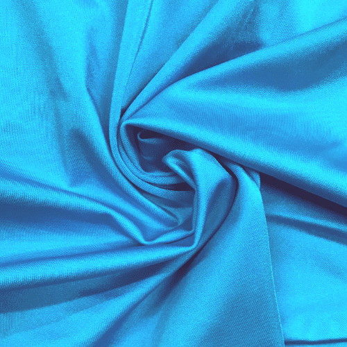 Turquoise Shiny Tricot Spandex, blue fabric, shiny blue fabric, cheer fabric, swim fabric,