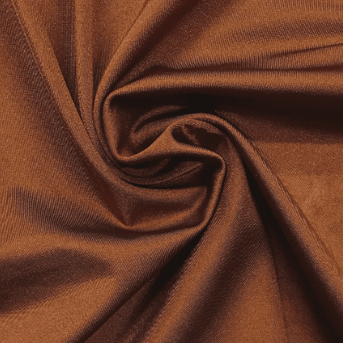 Cinnamon Shiny Tricot Spandex, brown fabric, shiny brown, cheer fabric, dance fabric, swim fabric