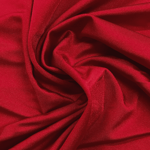 Red Shiny Tricot Spandex, Red fabric, cheer fabric, swim fabric, Shiny red fabric