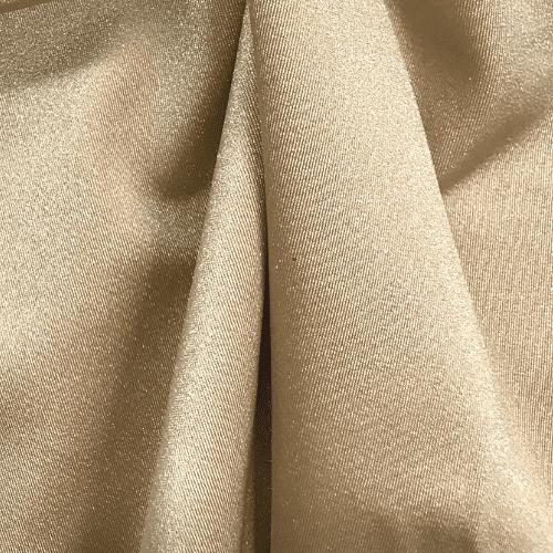 Toffee Shiny Tricot Spandex, gold fabric, nude fabric, cheer fabric, swim fabric