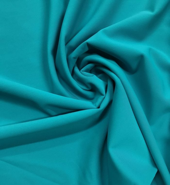 Turquoise Performance Stretch Lining Fabric, stretch lining, performance stretch lining, activewear stretch lining, stretchy athletic lining