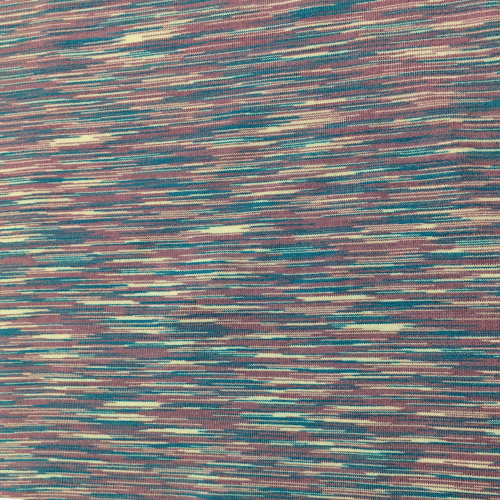 Mauve Blue Strata Space Dye Spandex, marbled fabric, blue fabric, mauve fabric, yoga fabric, activewear fabric