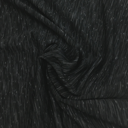 Black Grey Strata Space Dye Spandex, black fabric, yoga fabric