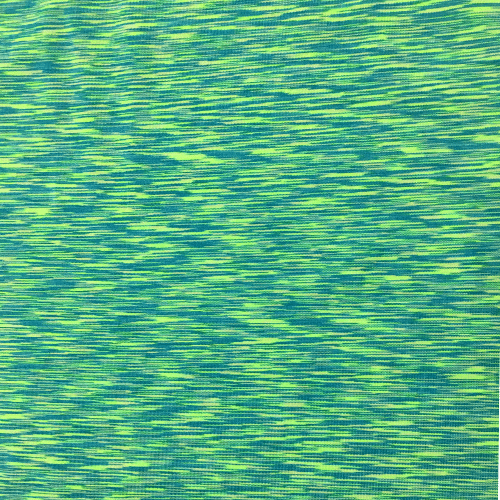 Turquoise Lime Strata Space Dye Spandex, blue fabric, green fabric, marbled fabric, yoga fabric, activewear fabric