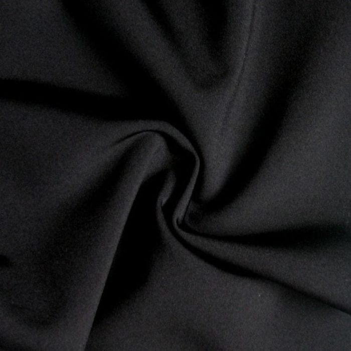 Black Performance Stretch Lining Fabric, black stretch lining, stretch lining, performance stretch lining, activewear stretch lining, stretchy athletic lining