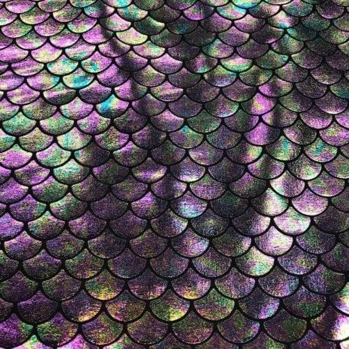 Multi-Colored Mermaid Scales in Black